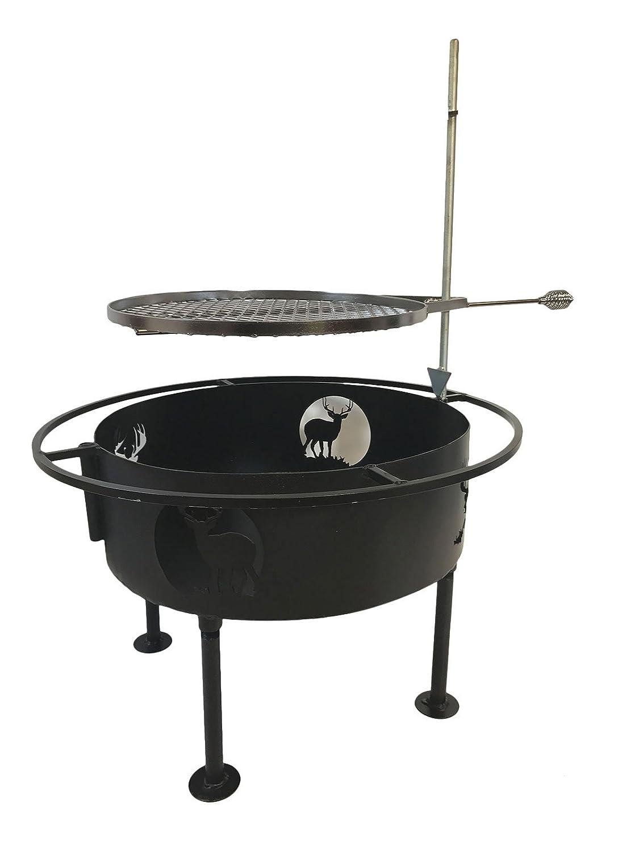 Fire Pit parrilla de cocción por impresiones Plus deja al aire ...