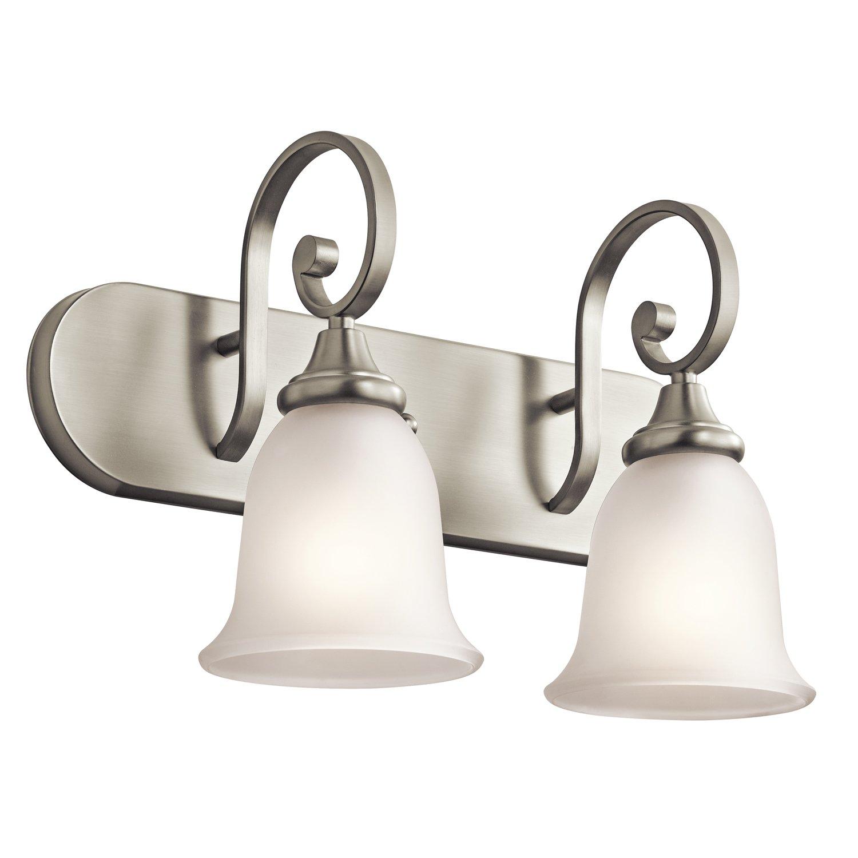 Kichler 45054NI Monroe Bath 2-Light, Brushed Nickel by KICHLER