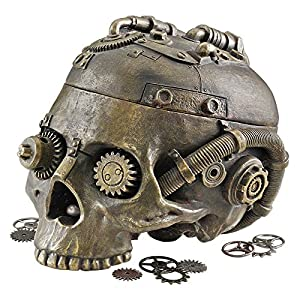 Design Toscano Steampunk Skull Containment Vessel Sculpture