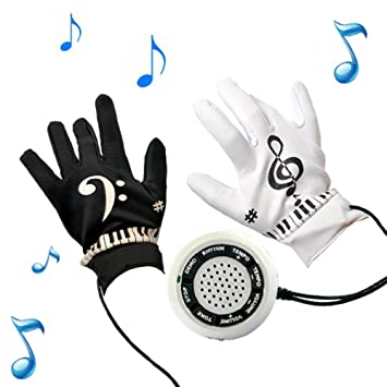 fuqun Genérico Guantes electrónicos ejercicios de instrumento de piano teclado musical Juego para adolescentes y adultos