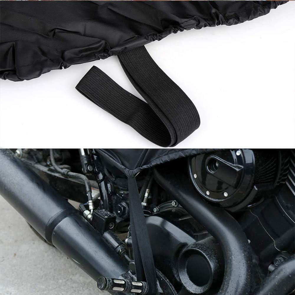 Funda para motocicleta cubierta media para motocicleta FP a prueba de polvo y a prueba de polvo media cubierta impermeable para motocicleta #MTCZ