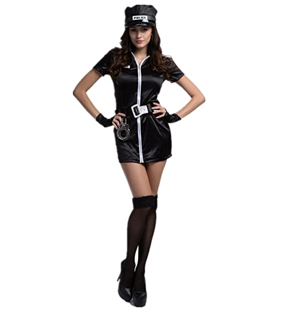 xiemushop- Disfraz de Policia Mujer Cosplay uniforme Halloween Talla XL   Amazon.es  Ropa y accesorios 8778952b283