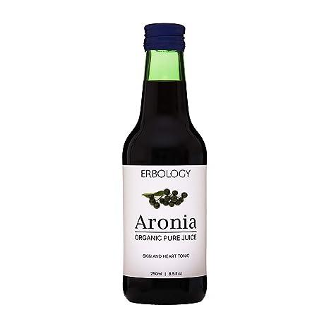 Jugo de Aronia Bio 250ml - 100% Aronia - Rico en Antocianinas - No de