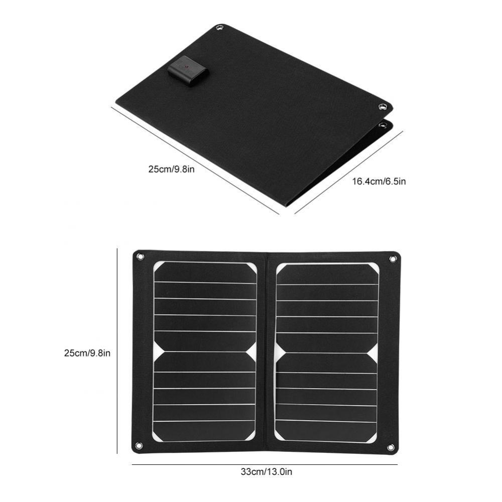 Richer-R 10W 5V 2000mAh Panneau Solaire Chargeur de Batterie Kit avec Sortie USB Chargeur de Batterie portatif pour T/él/éphone