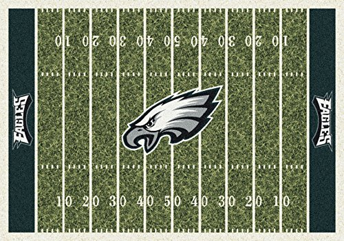 Philadelphia Eagles NFL Team Home Field Area Rug by Milliken, 7'8