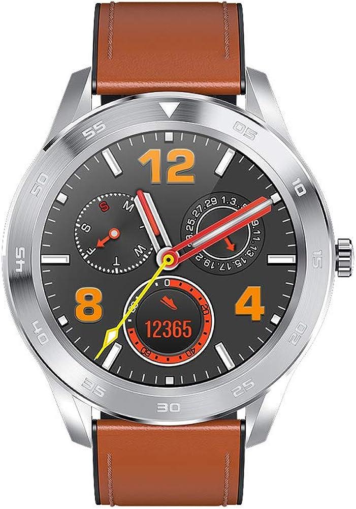 Smartwatch, un Reloj Inteligente para Hombres y Mujeres para Android iOS, IP68 a Prueba de Agua, con Pantalla a Color Verdadero de 1.3 Pulgadas, Monitor de frecuencia cardíaca y sueño, podómetro