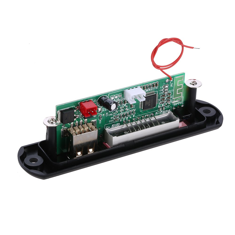 Kkmoon Wireless Bluetooth Mp3 Wma Decoder Board Car Audio Fm Radio Player Circuit Pcb With View Module Aux In Usb Port Tf Card Slot Remote Control Motorbike