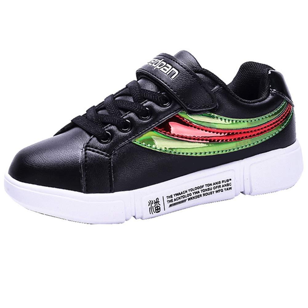 LGXH Waterproof Kids Youth Skateboarding Shoes Multicolor Cozy Boys Girls Slip On Skate Bowling-Shoes Black Size 13 M US Little Kid by LGXH