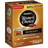 Nescafe Taster's Choice Hazelnut Instant Coffee, Single Serve Sticks (Pack of 8),1.69 oz