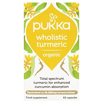 Pukka - Wholistic Turmeric - Organic Food Supplement 30 Capsules - 18 6g