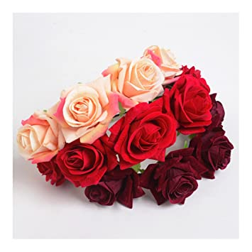 Coin Damen Madchen Rose Blumenstirnband Blume Haarreif Braut