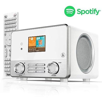 Hama Internetradio IR111MS (Spotify, WLAN/LAN, USB, Multiroom, 30  Favoritenplätze, Wifi-Streaming, beleuchtetes 2.6\