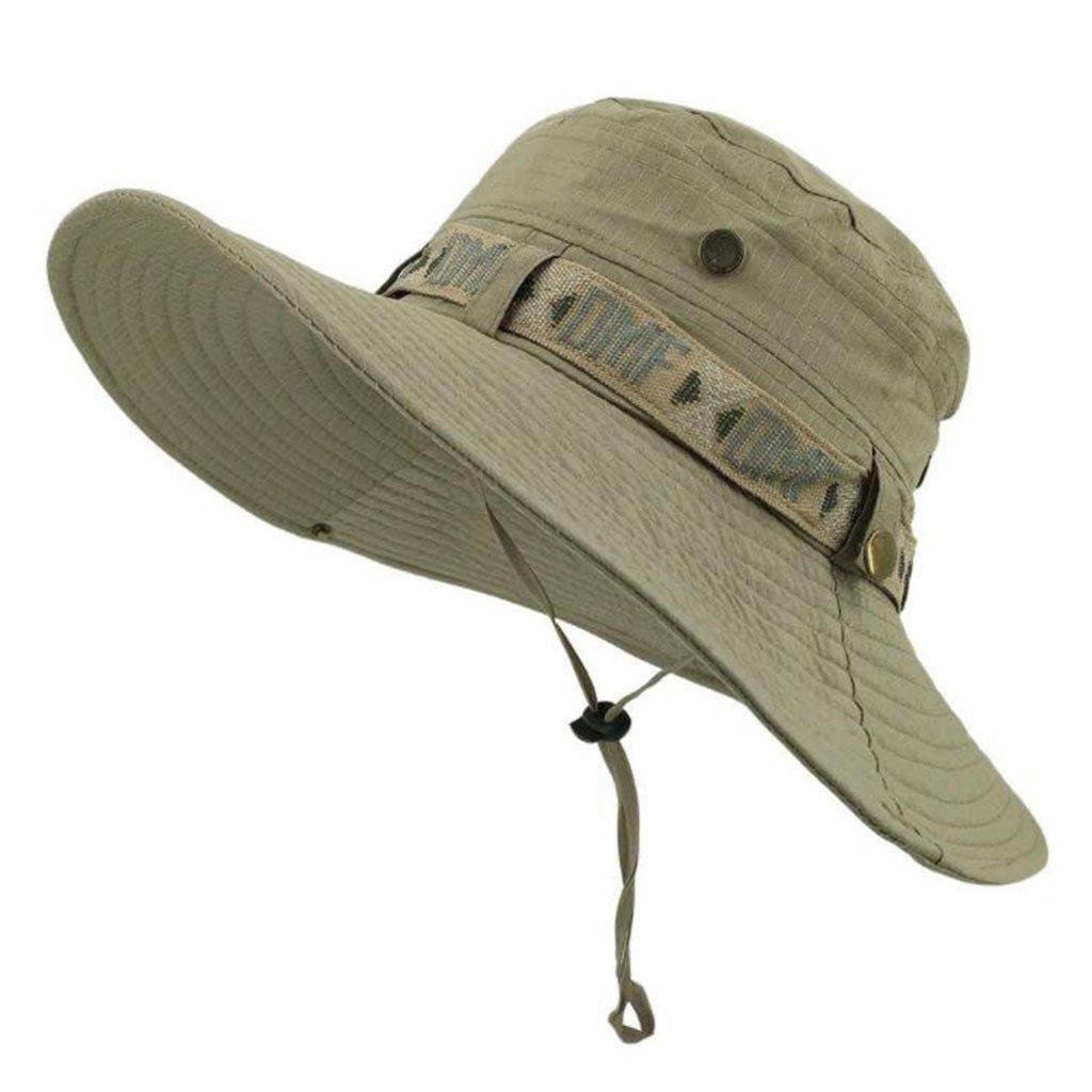 HLCUI Protectora del Sol Sombrero,Anti-UV Sombrero de Pescador Ajustable para El Sol Hombres Y Mujeres Senderismo Pesca Acampar Canotaje Y Aventura Al Aire Libre