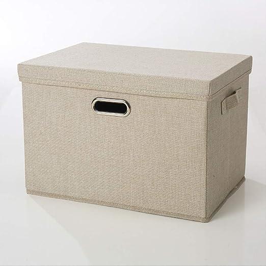 LBHHH (3 Piezas) Caja de Almacenamiento de Lino de algodón ...