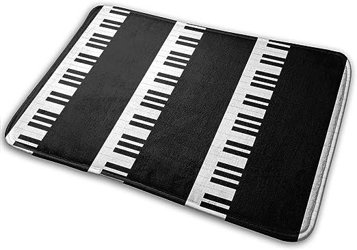 """Imagen deBLSYP Felpudo Piano Music Doormat Anti-Slip House Garden Gate Carpet Door Mat Floor Pads 15.8"""" X 23.6"""""""