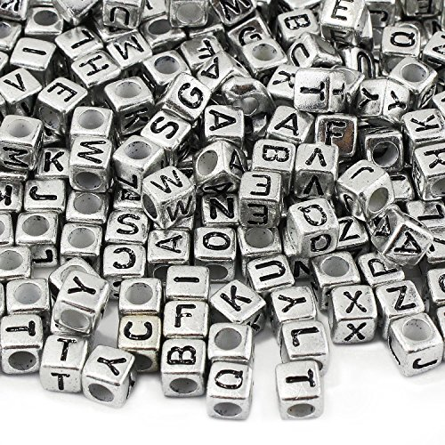 Buy cube beads silver