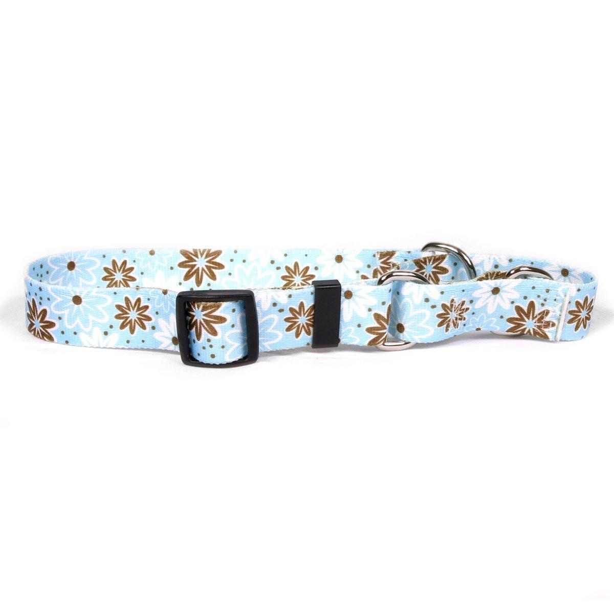 Yellow Dog Design Martingale Slip Collar, Daisy Chain Blue, Medium 20''