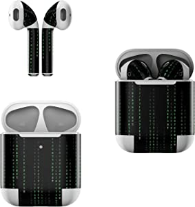 Skin Decals for Apple AirPods - Matrix Style Code - Sticker Wrap Fits 1st and 2nd Generation