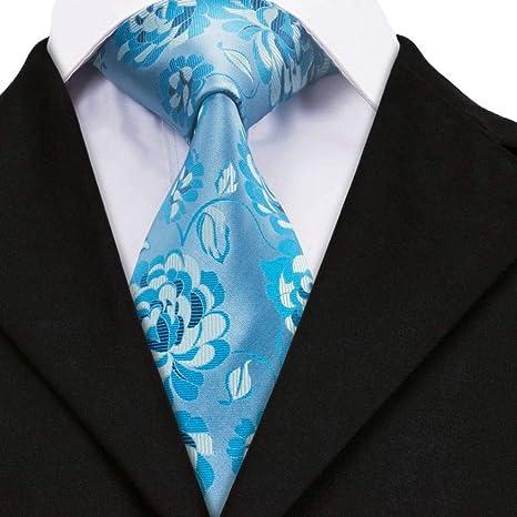 WOXHY Corbata Dn-1393 Corbata Lazos de Seda Hombres Corbata Floral ...