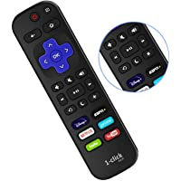 1-clicktech Remote for All Roku TV Brands [Hisense/TCL/Sharp/Insignia/ONN/Sanyo/LG/Hitachi/Element] w/ 6 Shortcut Keys…