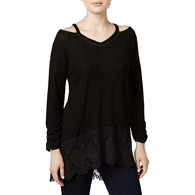 dfb7675e45e8c Womens Petites Cold Shoulder Day to Night Casual Top Black PS  Amazon.ca   Clothing   Accessories