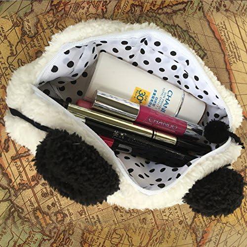 Hosaire Trousse de Stylo en Forme de mignon Panda Sac Trousse De Maquillage Cosm/étique Trousse Scolaire Stylo Zipper Sac pochette