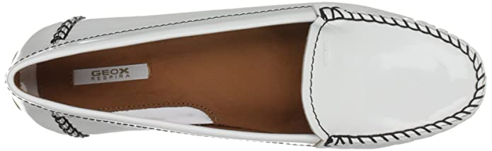 Geox D Italy G Patent, Mocassini Donna, Bianco (White), 39