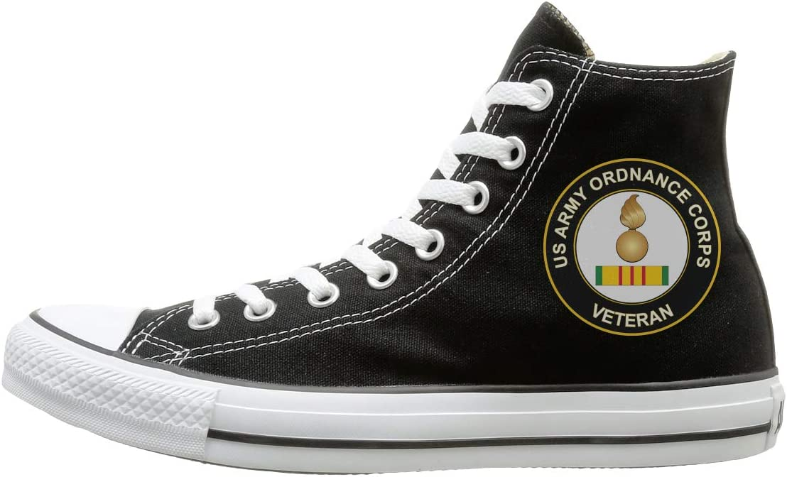 Reality And Ideals Army Ordnance Corps Vietnam Veteran Canvas High Top Sneaker