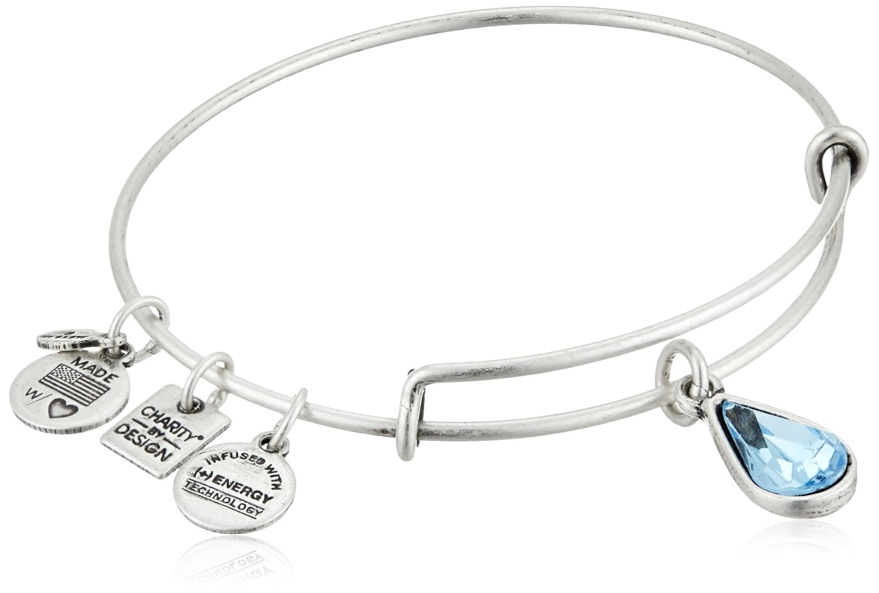 Alex and Ani Charity By Design Living Water International Rafaelian Silver Bangle Bracelet by Alex and Ani (Image #1)