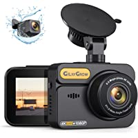 $109 » 4K Dash Cam Front and Rear Built-in GPS GILAYGROW Front 4K/2.5K and Rear 1080P…