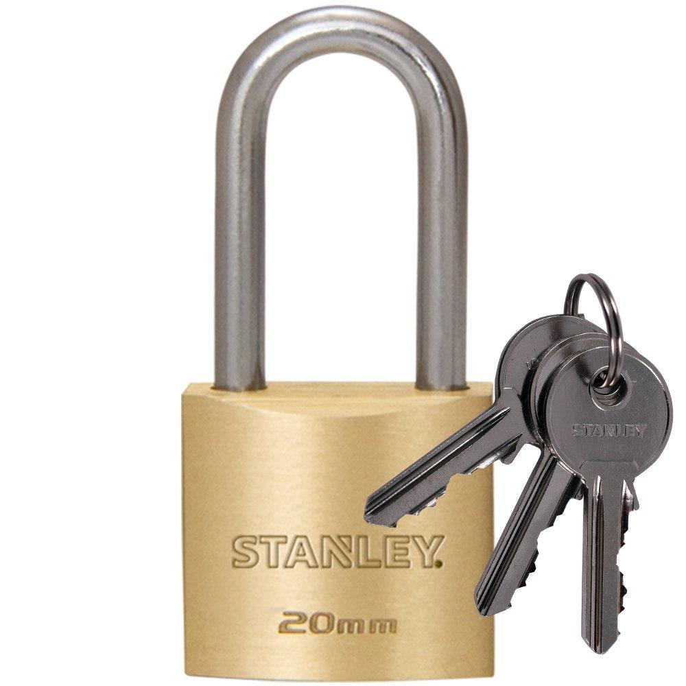 Stanley 25 mm 3 Keys Solid Brass Padlock BLACK+DECKER 81101 371 401