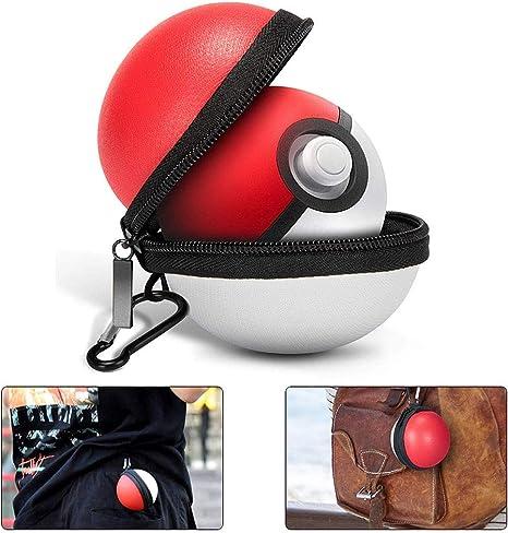 Funda Pokebolas Pokémon para Pokémon Poke Ball Plus, Protector de Cremallera Duro Bolsa con Llavero de Nitedo Switch Interruptor Accesorios Pokeball (Rojo y Blanco): Amazon.es: Videojuegos