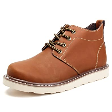 Men's Autumn-Winter Comfort Lace-Up Waterproof Ankle Martin Boots Warm Plush Inside Big Size