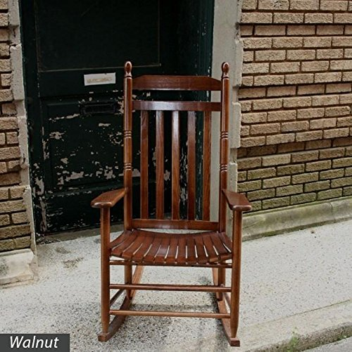 Dixie Seating Asheville Slat Back Wooden Rocking Chair - Quick Ship