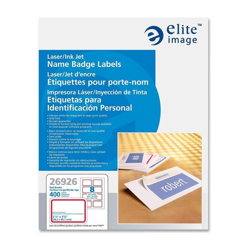 Amazon.com : Elite Image White Name Badge Labels (ELI26926 ...
