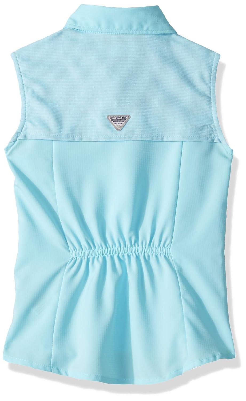 Moisture Wicking Fabric Columbia Youth Girls PFG Tamiami Sleeveless Shirt UV Sun Protection
