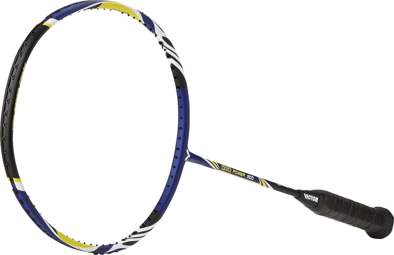 One Size Color Azul Oscuro//Blanco//Amarillo /Raqueta de b/ádminton Victor Wave Power 500/