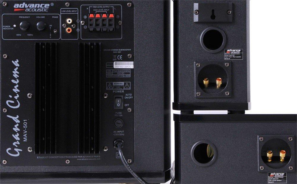 Home cinéma advance acoustic mav 502 noir