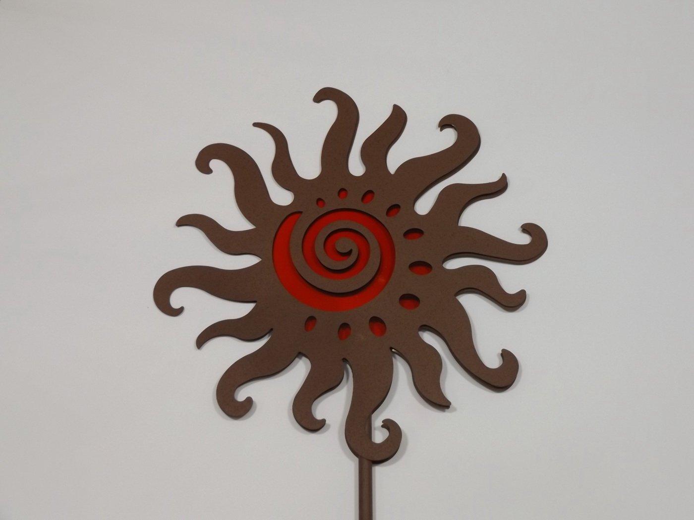 Edelrost Optik Igel stecken Dekoration Garten Terrasse Beet Figur Metall Deko