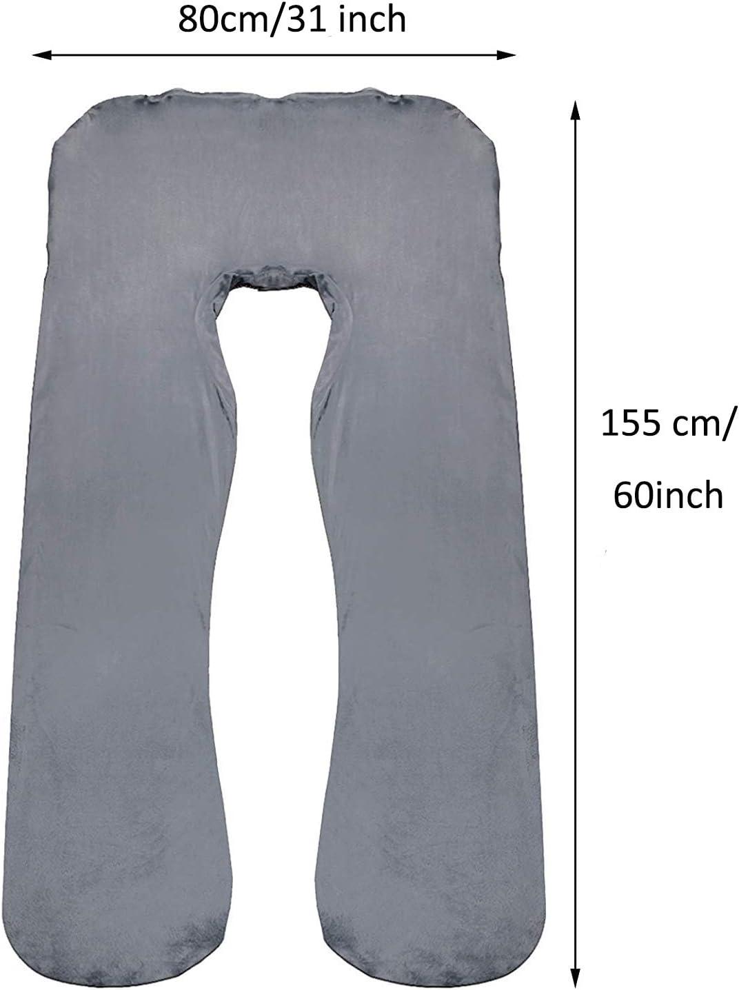Abnehmbarer Kissenbezug Chosimo Schwangerschaftskissenbezug U-f/örmig f/ür Mutter Schlafkissen blau 142 x 76 cm Kissenbezug f/ür Schwangerschaft 100/% Bio-Baumwolle