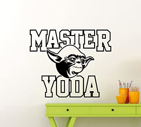 Jedi Master Yoda Wall Decal Star Wars Vinyl Mural Jedi Master Yoda Poster Stencil Ink Quote  sc 1 st  Amazon.com : yoda wall decal - www.pureclipart.com