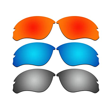 d468f1ef16 Amazon.com   ACOMPATIBLE 3 Pair Replacement Polarized Lenses for Oakley  Speed Jacket Sunglasses OO9228 Pack P3   Sports   Outdoors
