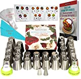 DELUXE Russian Piping Tips Icing tips Cake Decorating supplies Baking Supplies Set 27 Icing Nozzles Russian tips EXTRA LARGE Cake Decorating Tips Gift Box FREE eBook with Frosting Recipes