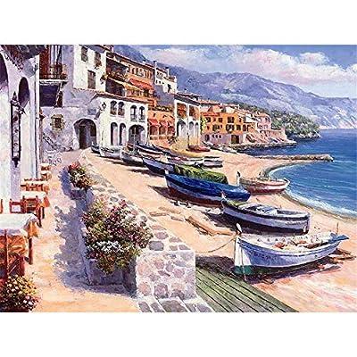 Wacydsd Puzzle 1000 Pezzi Molte Barche In Riva Al Mare Puzzle Classico Kit Fai Da Te Giocattolo In Legno Regalo Unico Decorazioni Per La Casa