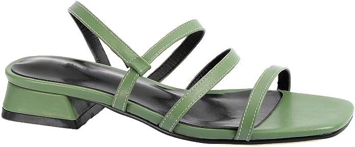 Vintage Sandals | Wedges, Espadrilles – 30s, 40s, 50s, 60s, 70s Greatonu Women Slide On Sandals Low Block Heels Elastic Strap Open Toe Shoes $28.99 AT vintagedancer.com