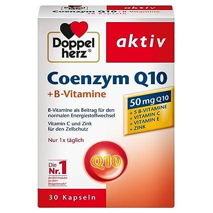 Doble Corazón coenzima Q10 + Vitamina B, 30 cápsulas