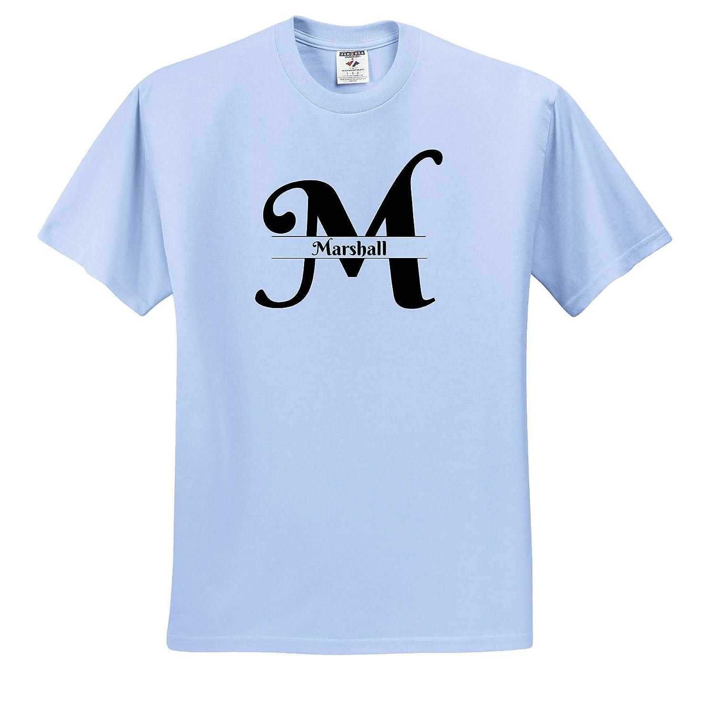 3dRose BrooklynMeme Monograms Marshall T-Shirts Bold Script Monogram M