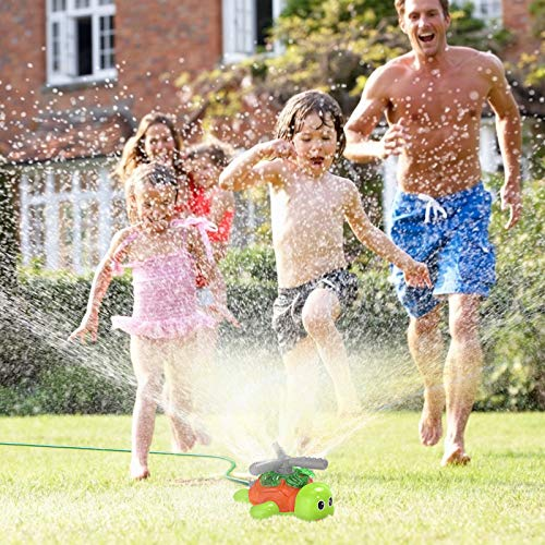Kiztoys Outdoor Water Spray Sprinkler for Kids Turtle Yard Water Toy Sprinkler Toy Sprinkler Children Outdoor Lawn Sprinkler Toy Splashing Fun for Summer Days