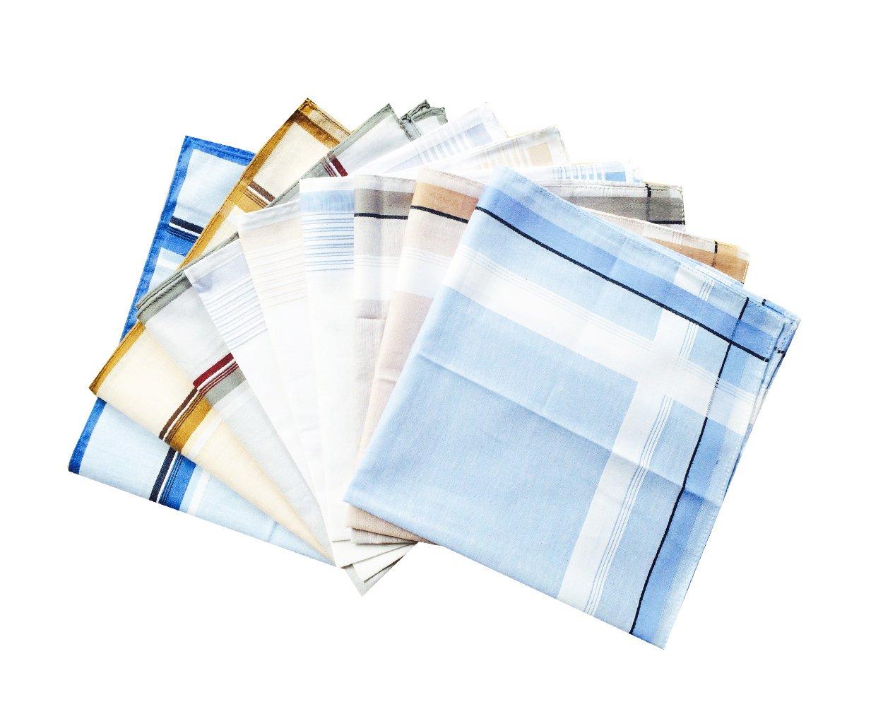 CoCoUSM Classic Mens Cotton Handkerchiefs Pack Bulk