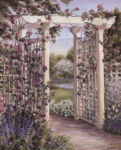 - Garden Escape I by Carol Saxe - 8x10 Inches - Art Print Poster